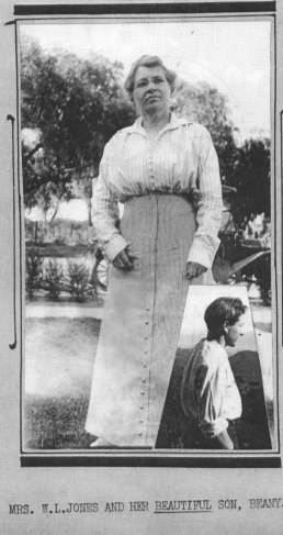 Grover and his mother, ca. 1915